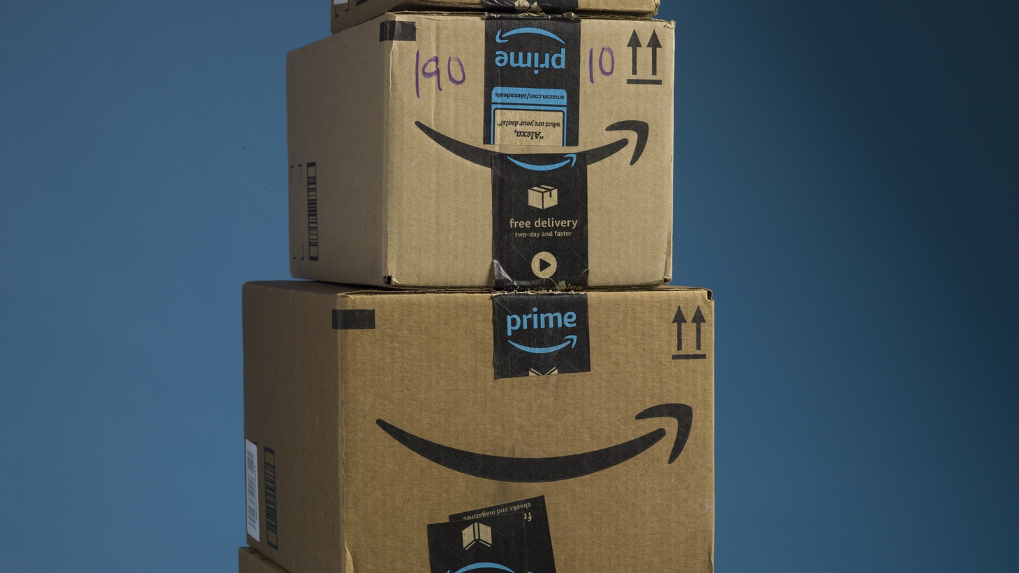 Amazon Prime packages.