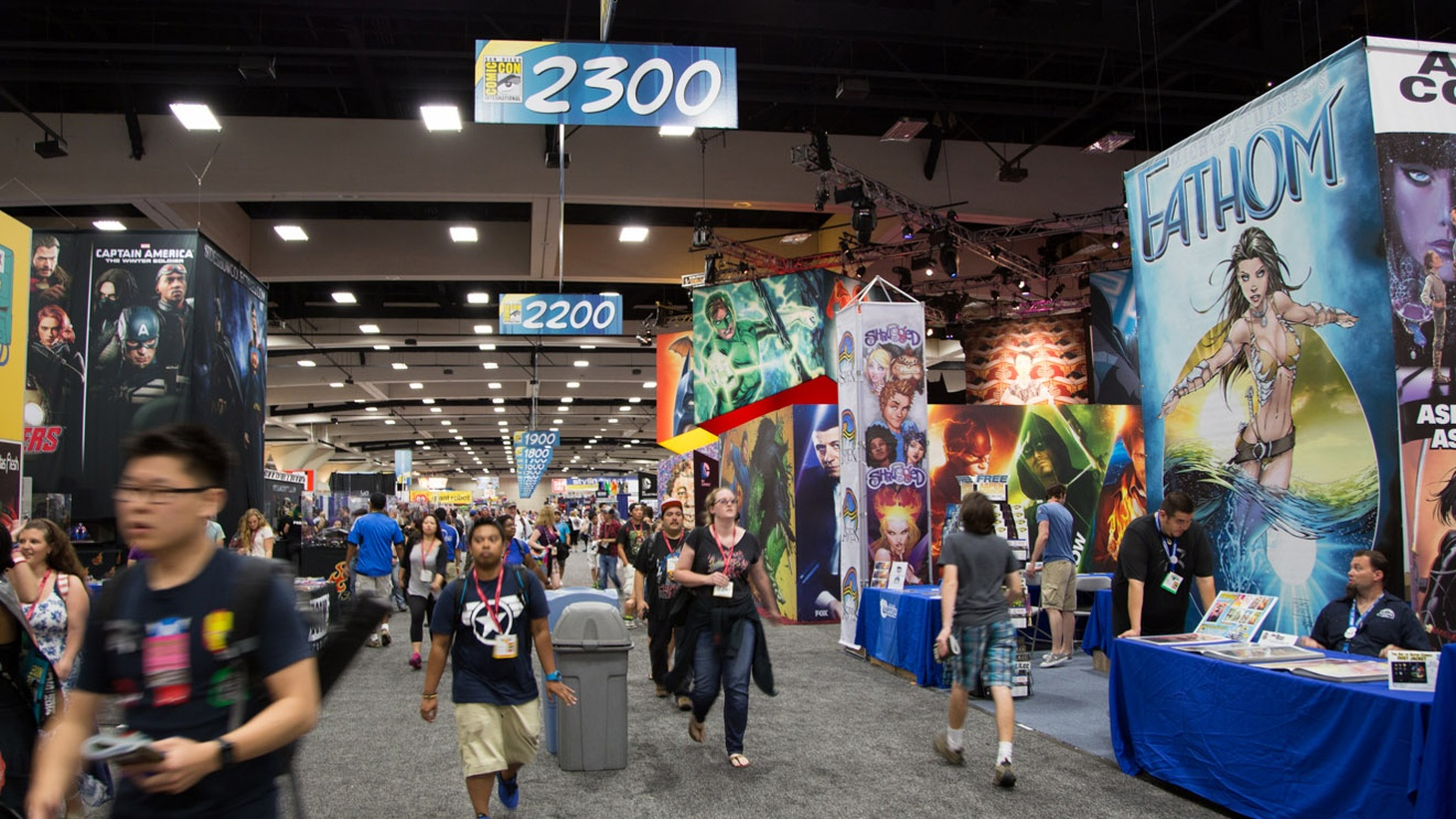 The San Diego Comic Con is underway! That's great news for many geeks making their annual pilgrimage. But to other veteran comic fans, the event has given-in to crass commercialism.       image: Comic Con 2014 by Pat Loika