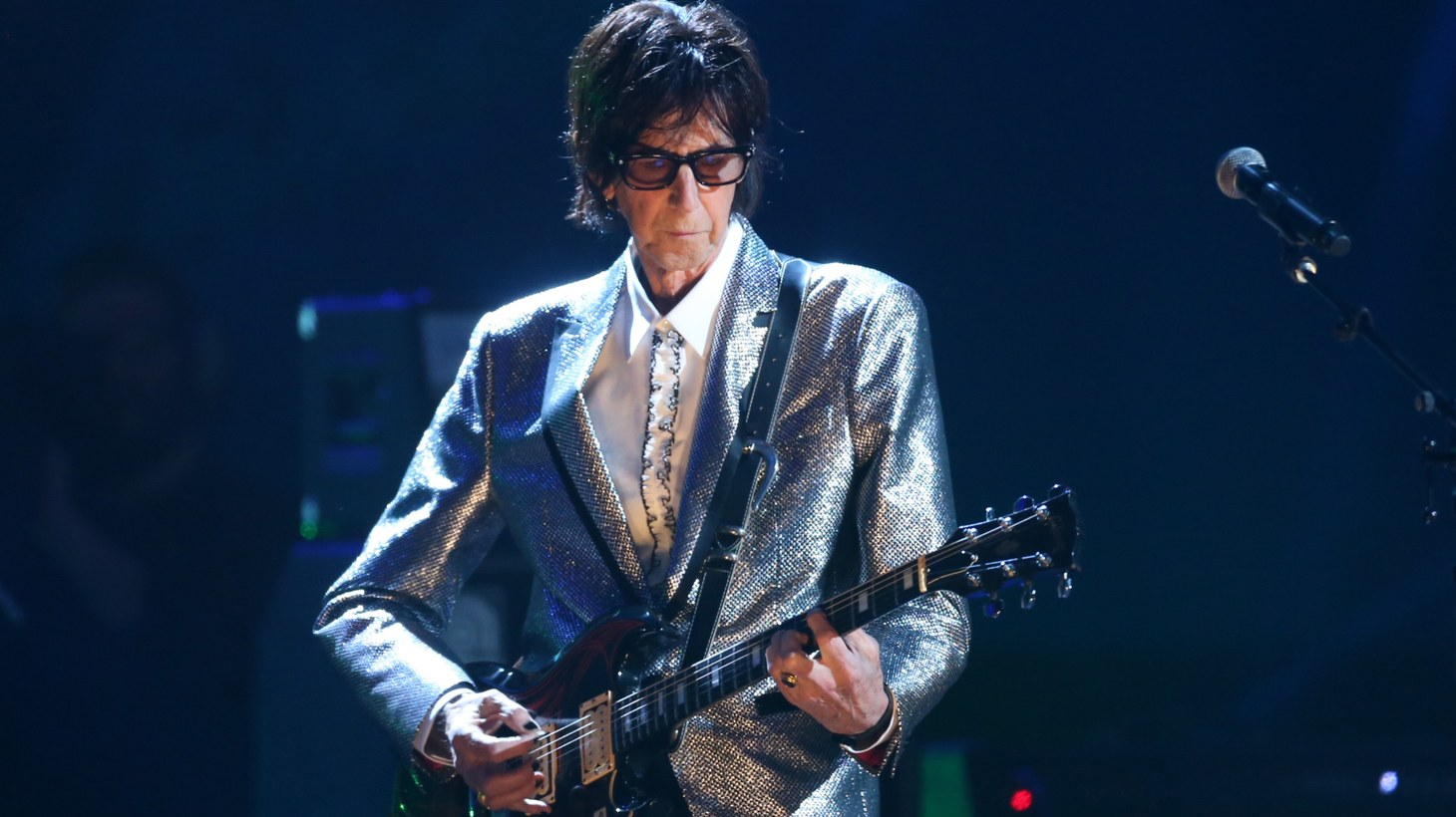 Rock & Roll Hall of Fame Induction – Show - Cleveland, Ohio, U.S., 14/04/2018 – Ric Ocasek of The Cars performs on stage.