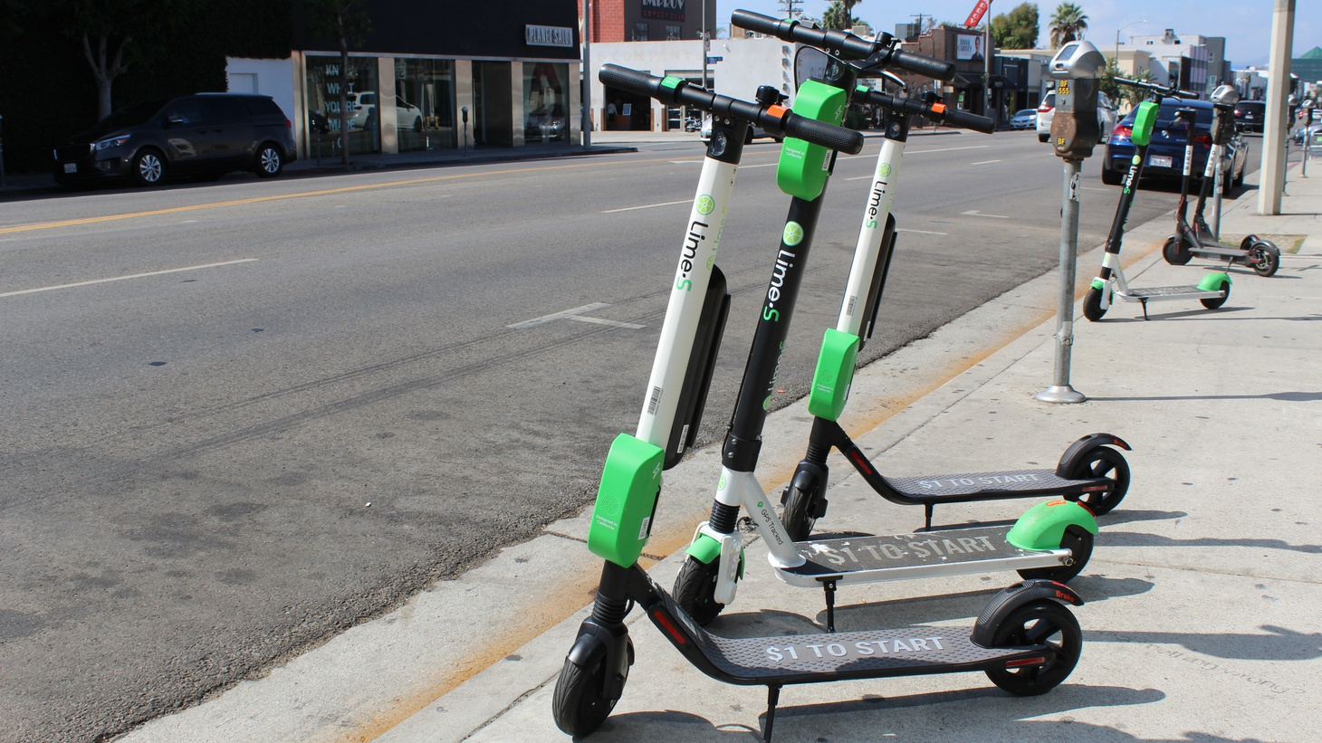 Lime scooters in LA.