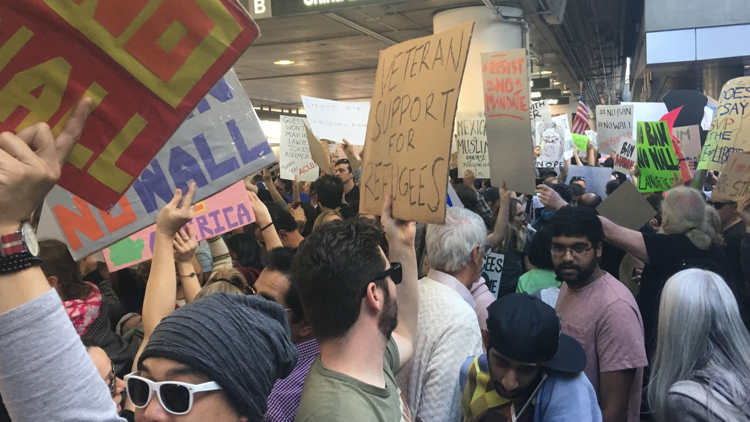 Protests erupted nationwide over President Donald Trump's executive order banning people from seven majority-Muslim countries from entering the U.S. We discuss it with California Senator Kamala Harris, and learn about one of the architects of the ban.