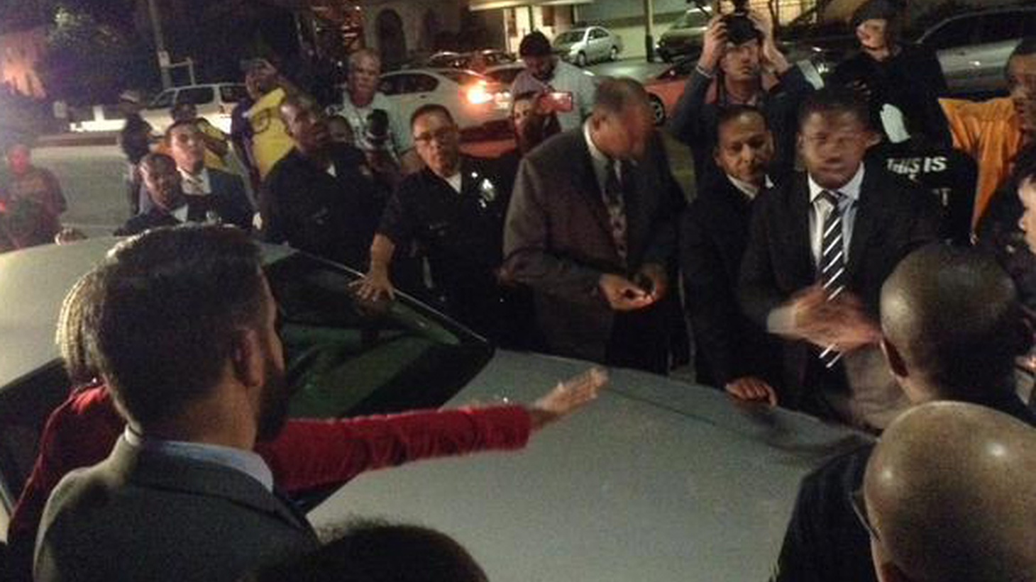 Black Lives Matter protesters disrupted a community meeting held by Mayor Garcetti last night in South LA, closing the meeting down early.