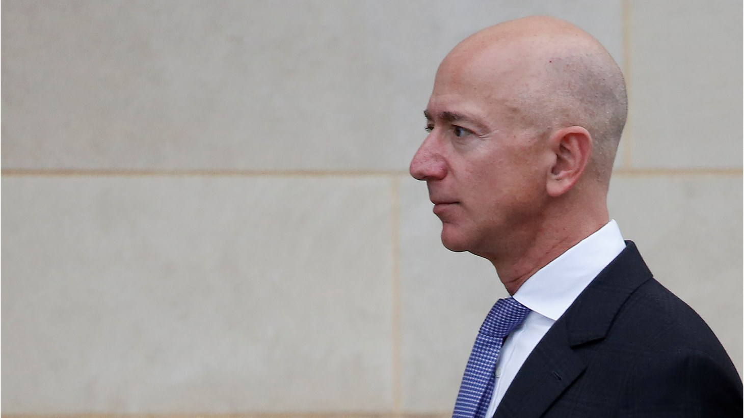Amazon founder Jeff Bezos arrives for the memorial service of U.S. Senator John McCain (R-AZ) at the National Cathedral in Washington, U.S., September 1st, 2018.