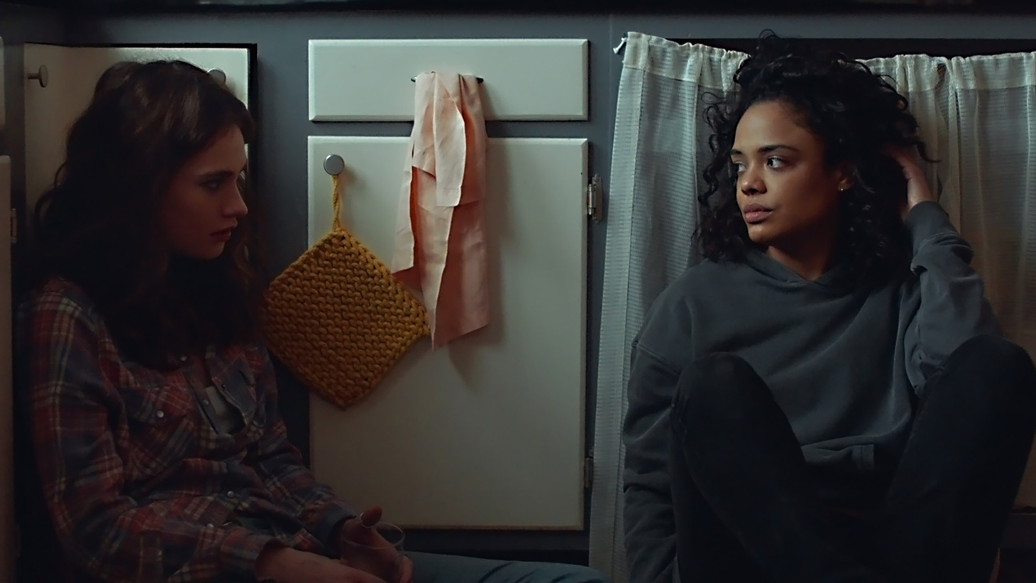 Lily James and Tessa Thompson in Little Woods.