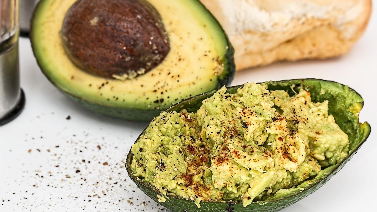 Seasoned avocado.