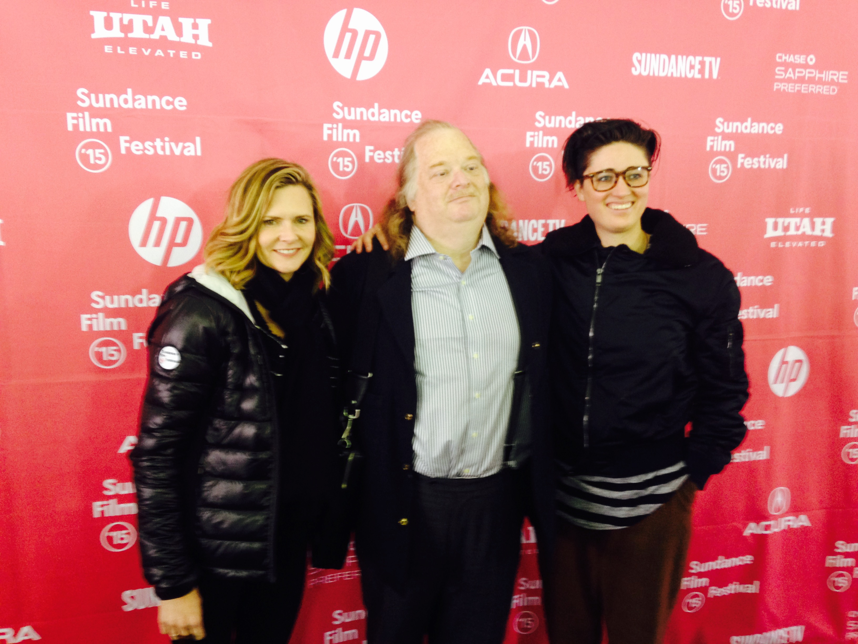 Laura Gabbert, Jonathan Gold and co-producer Andrea Lewis on the red carpet