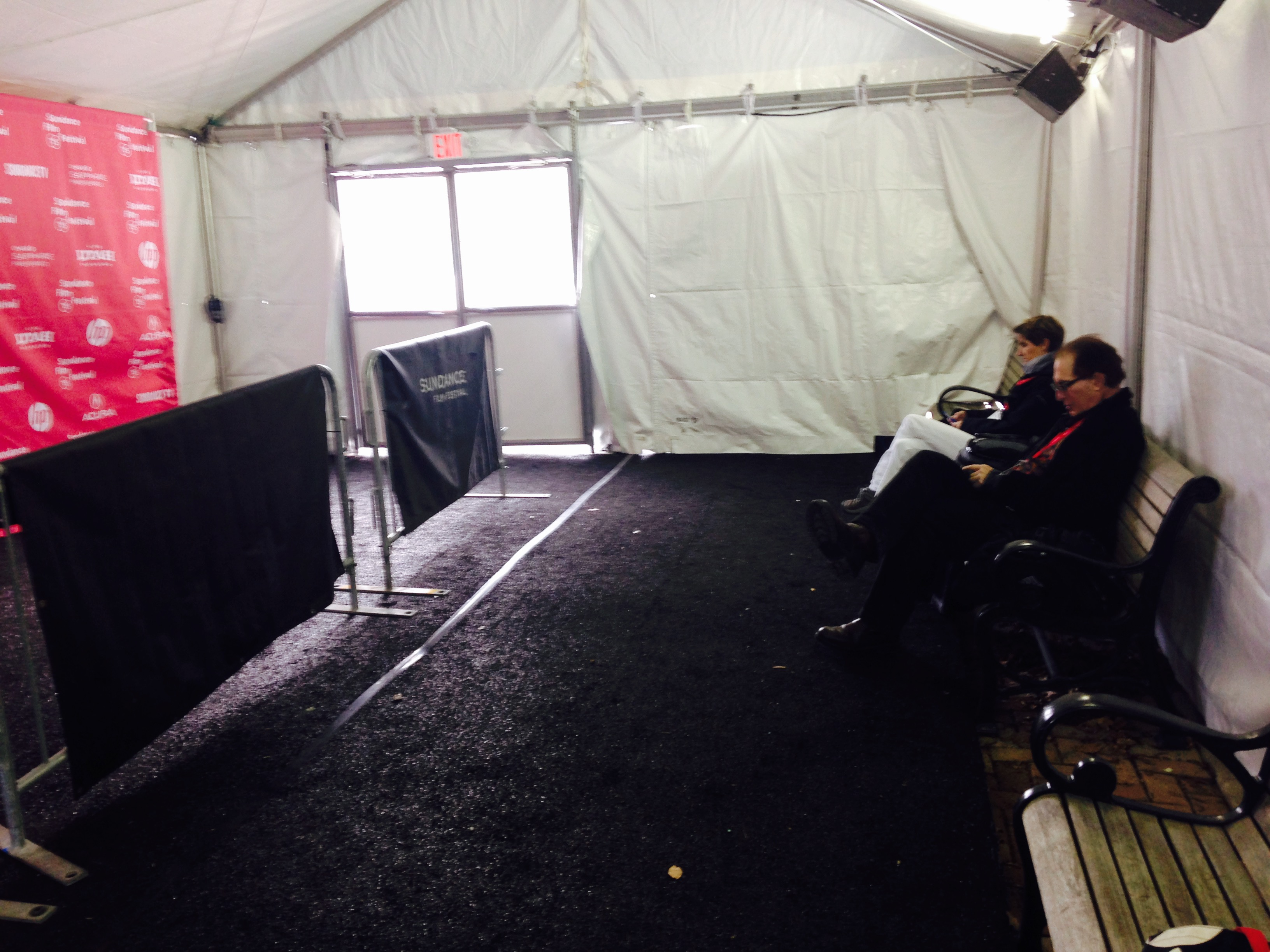 "Press Tent - The red carpet - sich as it was - at the ""City of Gold"" premiere"