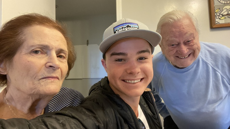 Social distancing has put a strain on people who used to see each other often, like Cade Costic and his grandparents.