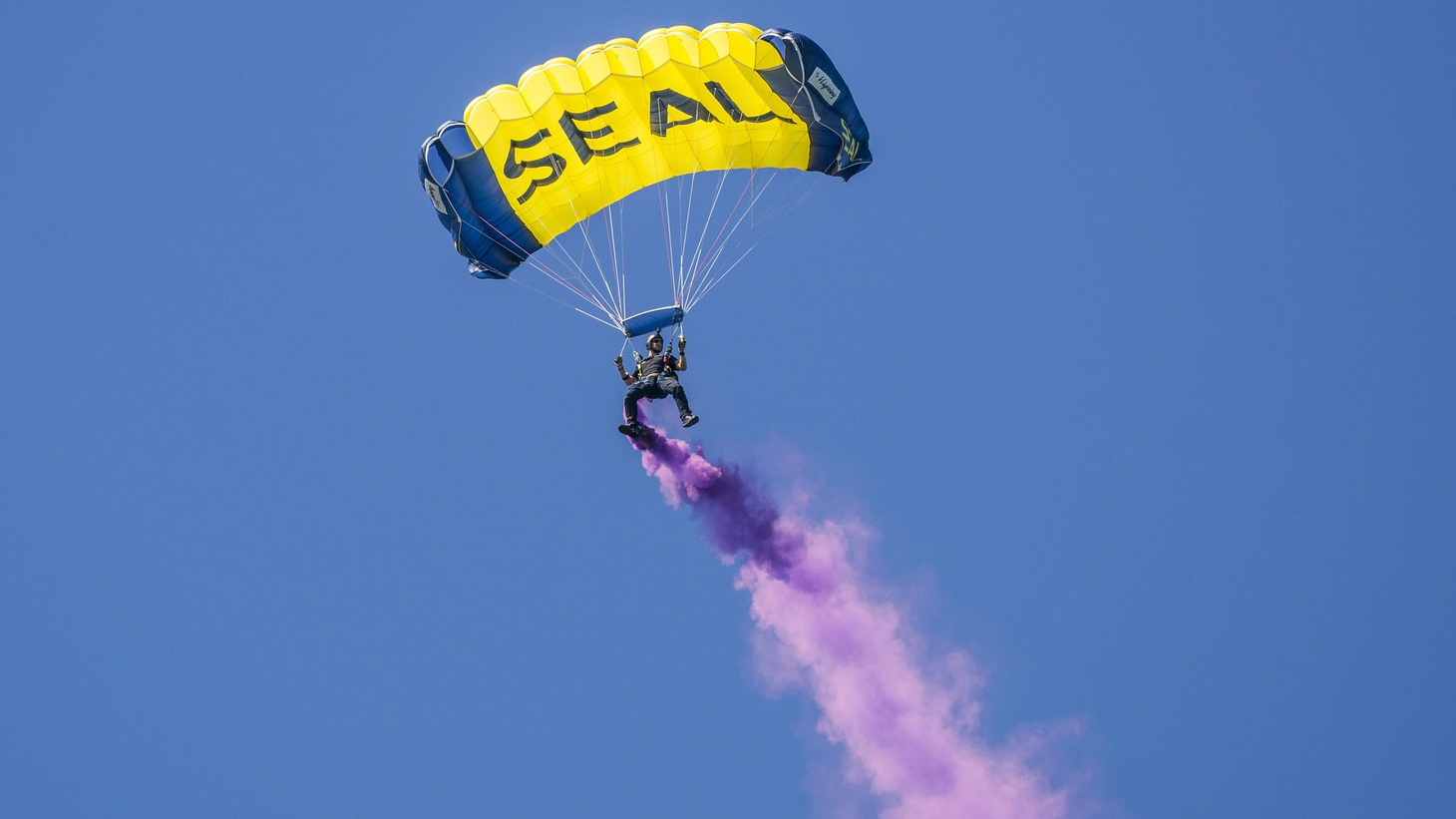 A Navy Seal paratrooper.