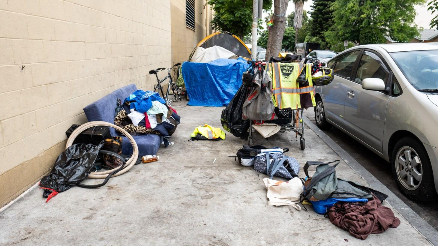 A homeless camp in Culver City, June 6, 2019.