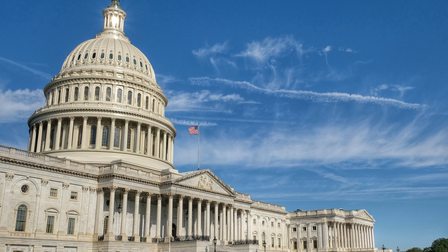 The U.S. Capitol features classical architecture.