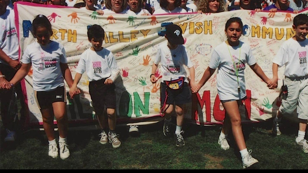 NVJCC participants at the Million Mom March in DC. Josh is 2nd from the left with his arm in a cast.