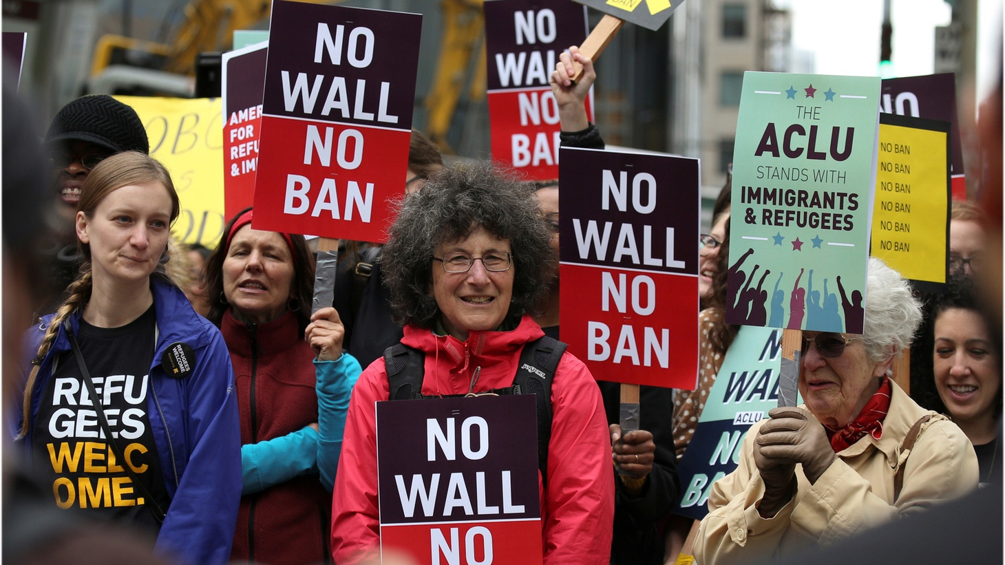 On Monday, the 9th Circuit Court of Appeals in Seattle heard arguments on President Trump's revised travel ban. Tuesday, Angelenos will vote in a local election for seats on the city council and school board, and on a measure on police discipline..