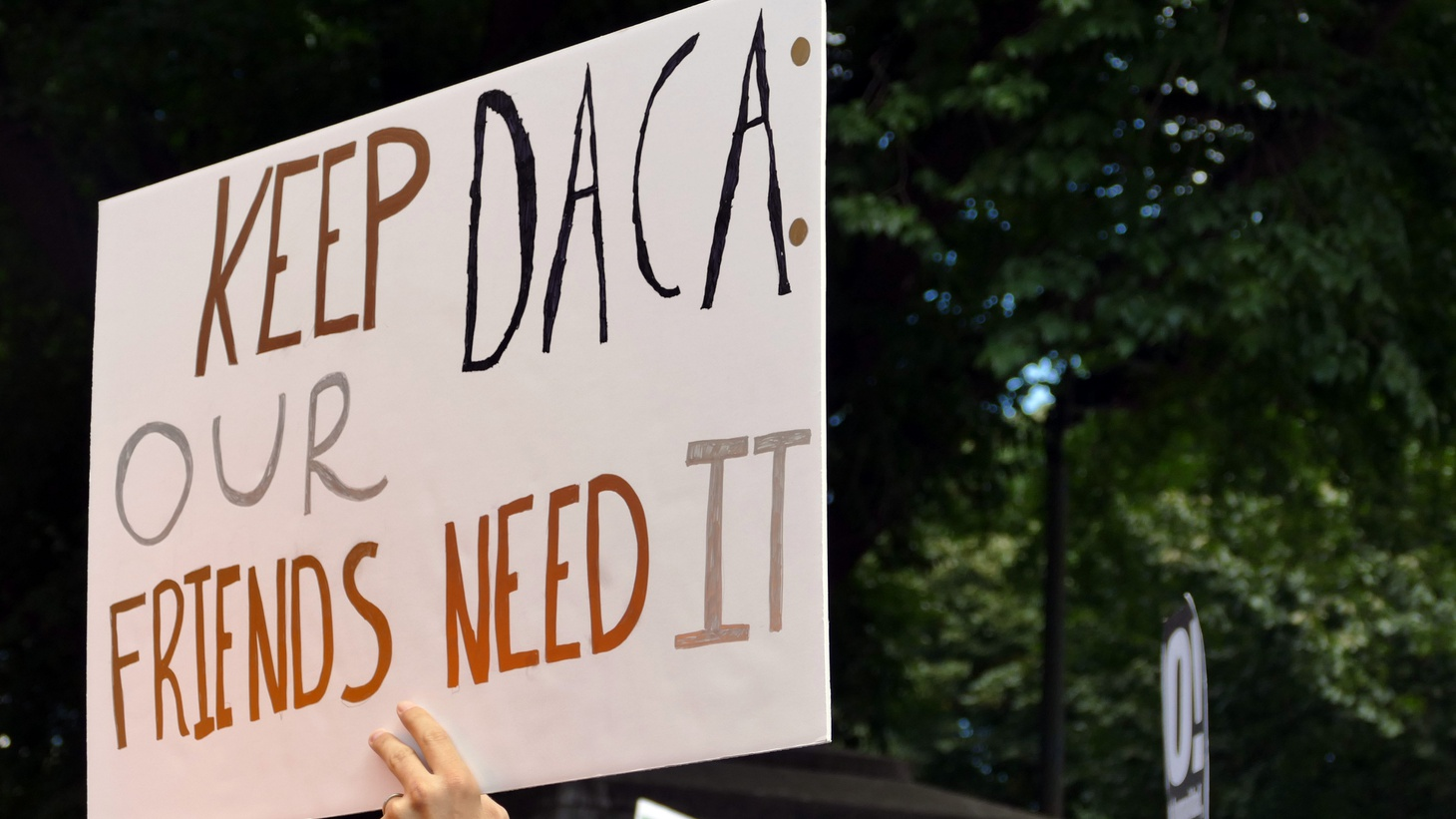 A rally to defend DACA and immigrants, September 2017.