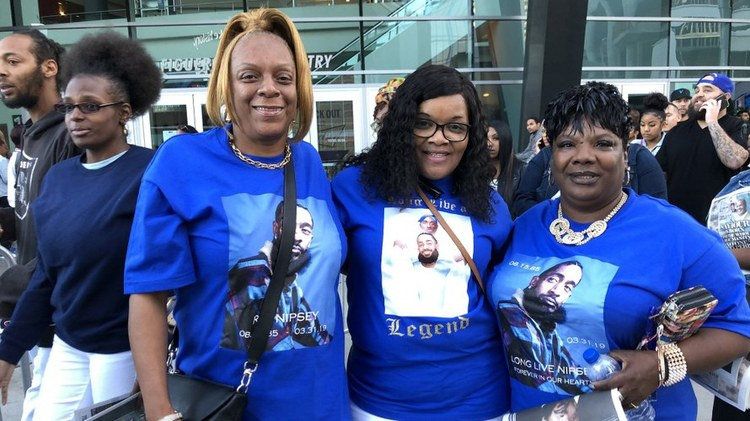 More than 20,000 people filled the Staples Center in downtown Los Angeles earlier today to celebrate rapper Nipsey Hussle's life.
