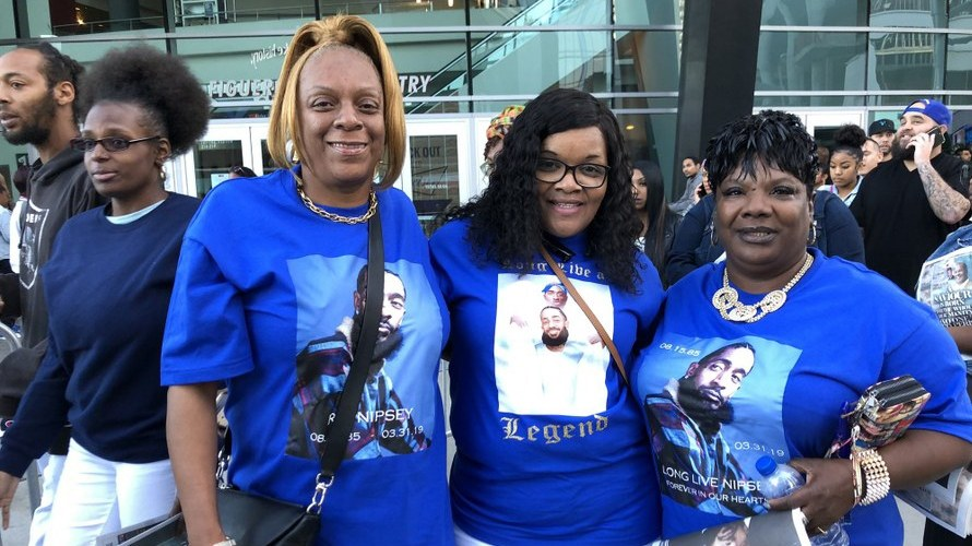 More than 20,000 people filled the Staples Center in downtown Los Angeles earlier today to celebrate rapper Nipsey Hussle's life