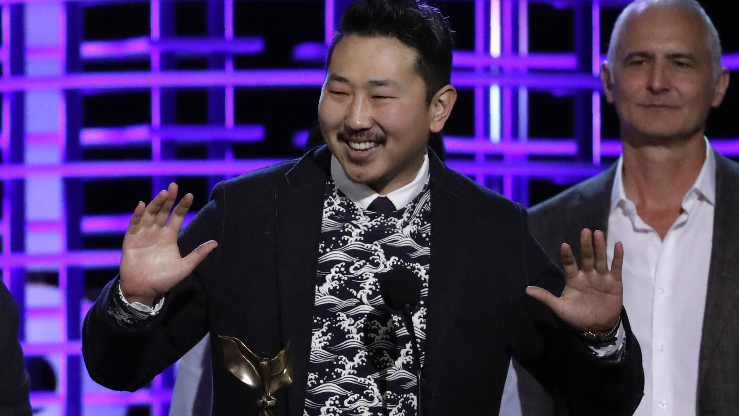 """Director Andrew Ahn's latest movie is a drama called """"Driveways."""" He's pictured at the 2017 Film Independent Spirit Awards in Santa Monica."""
