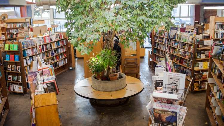 Skylight Books co-owner Mary Williams is focused on rearranging the store so that her 25 employees can get back to work safely.