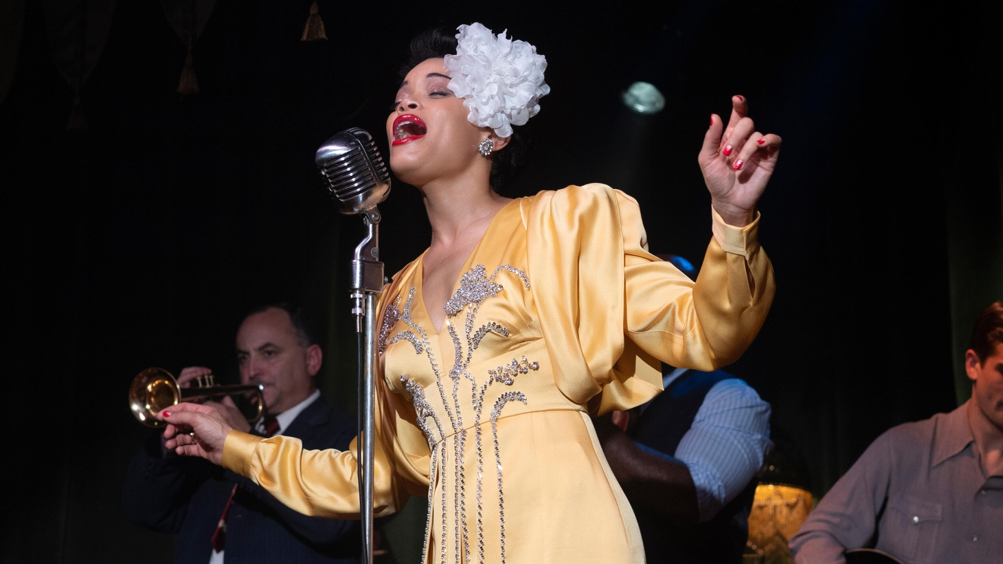 """Billie Holiday (Andra Day) in """"The United States vs. Billie Holiday."""""""