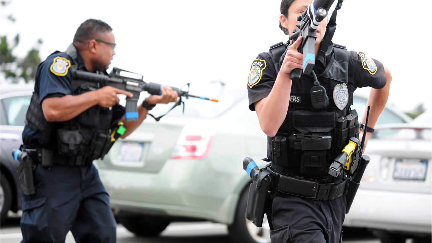 When police enter someone's home without a search warrant and then fear for their lives, do they have the right to open fire? That's the question before the Supreme Court today in a case out of Los Angeles.