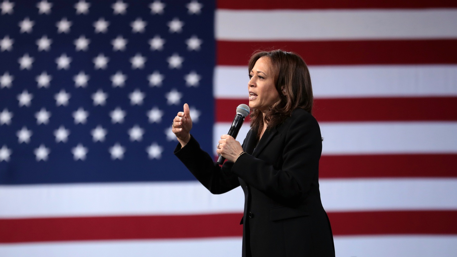U.S. Senator Kamala Harris speaking with attendees at the 2019 National Forum on Wages and Working People, Las Vegas, Nevada.