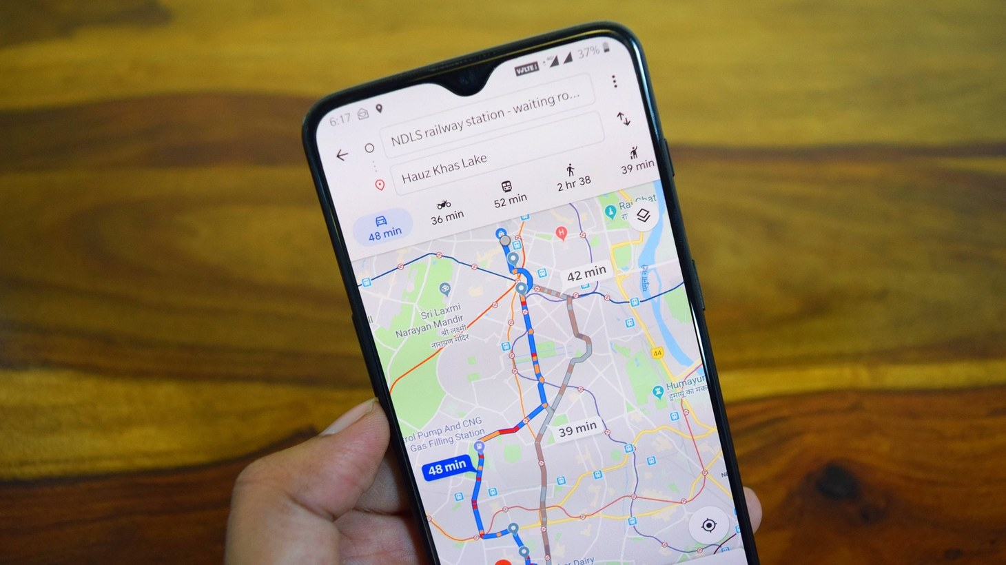 Google Maps app.