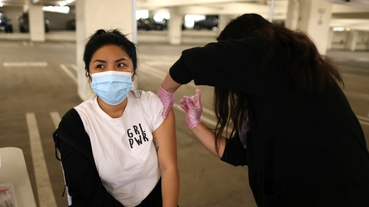 Health officials on Thursday said they're starting to see a big slowdown in the number of people signing up to get their coronavirus vaccination shots.