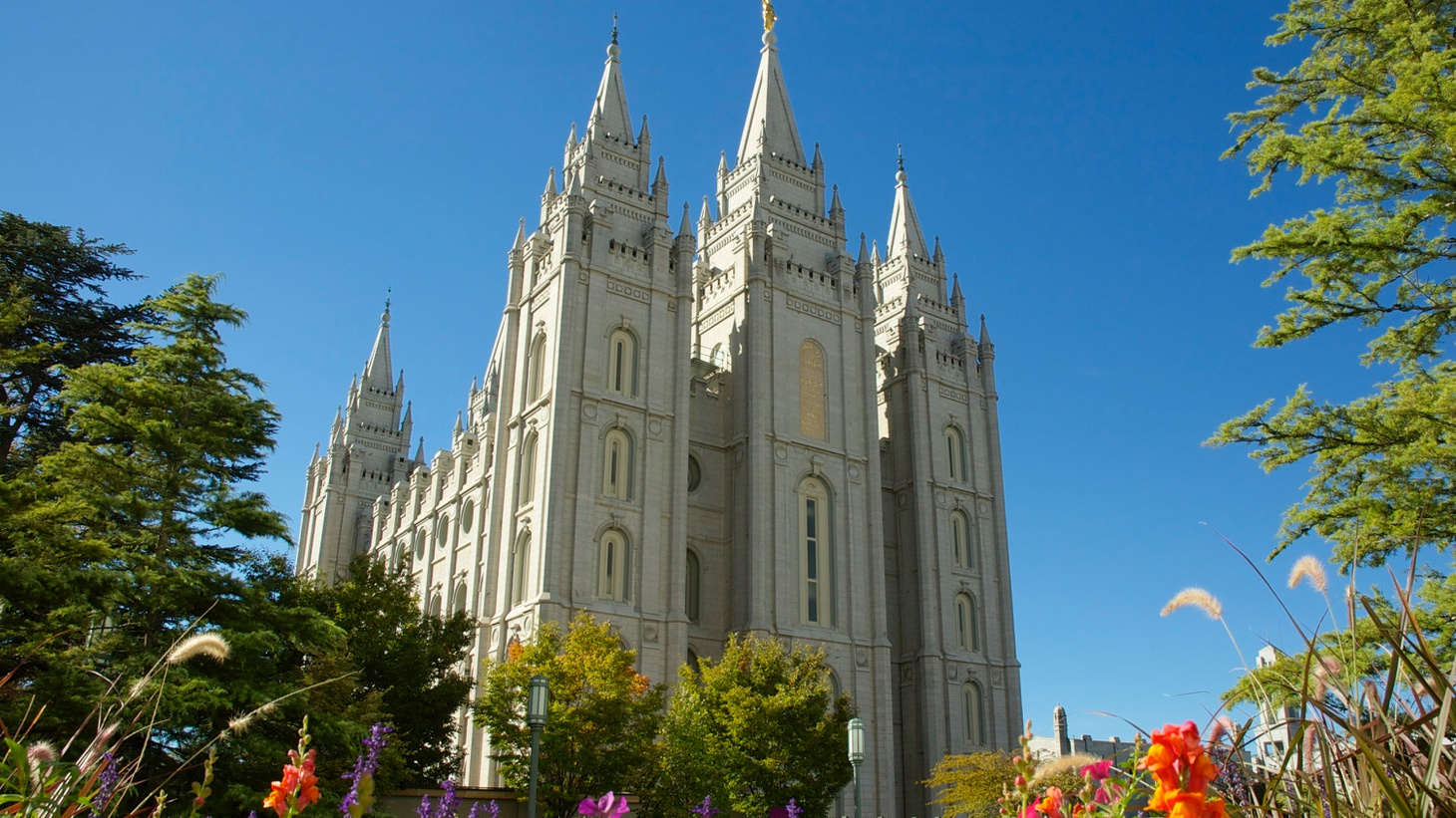 Utah's Salt Lake Temple is the headquarters of the Church of Jesus Christ of Latter-day Saints.