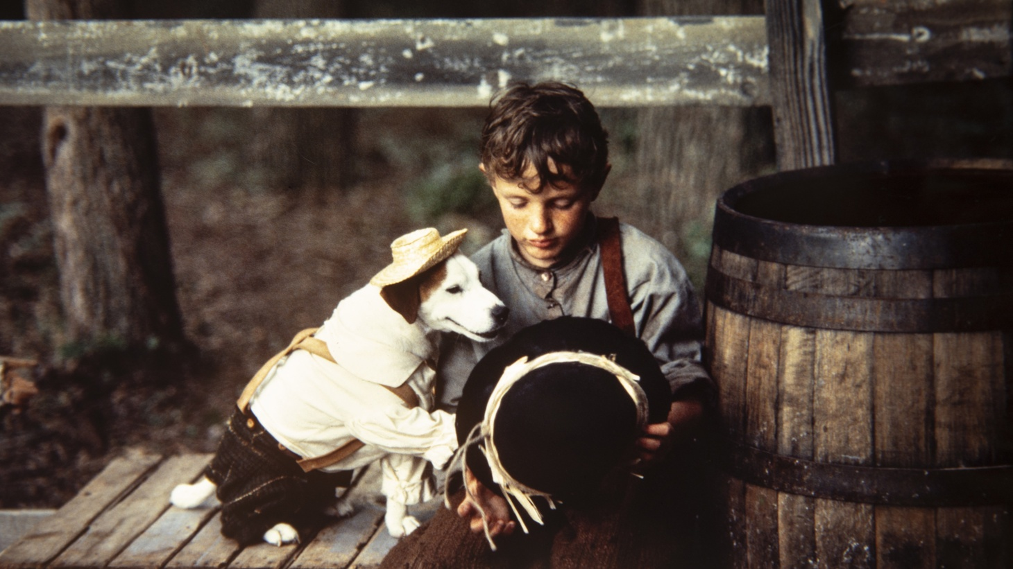 "Wishbone played Tom Sawyer as Christopher Regan Ammons played Huck Finn in the episode ""A Tail in Twain"" from Mark Twain's Adventures."