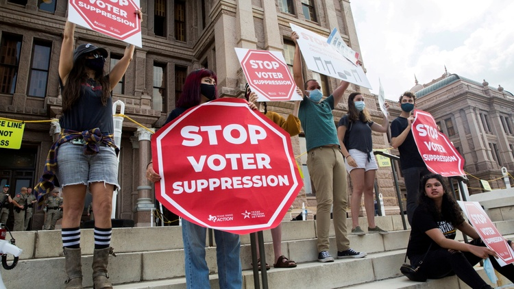 In Texas on Sunday, Democrats successfully stopped a bill — with new voting restrictions — from passing in the final minutes of the State Legislative session.