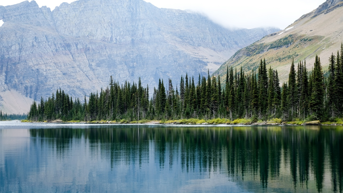 A view from Hidden Lake Trail at Glacier National Park in Montana.