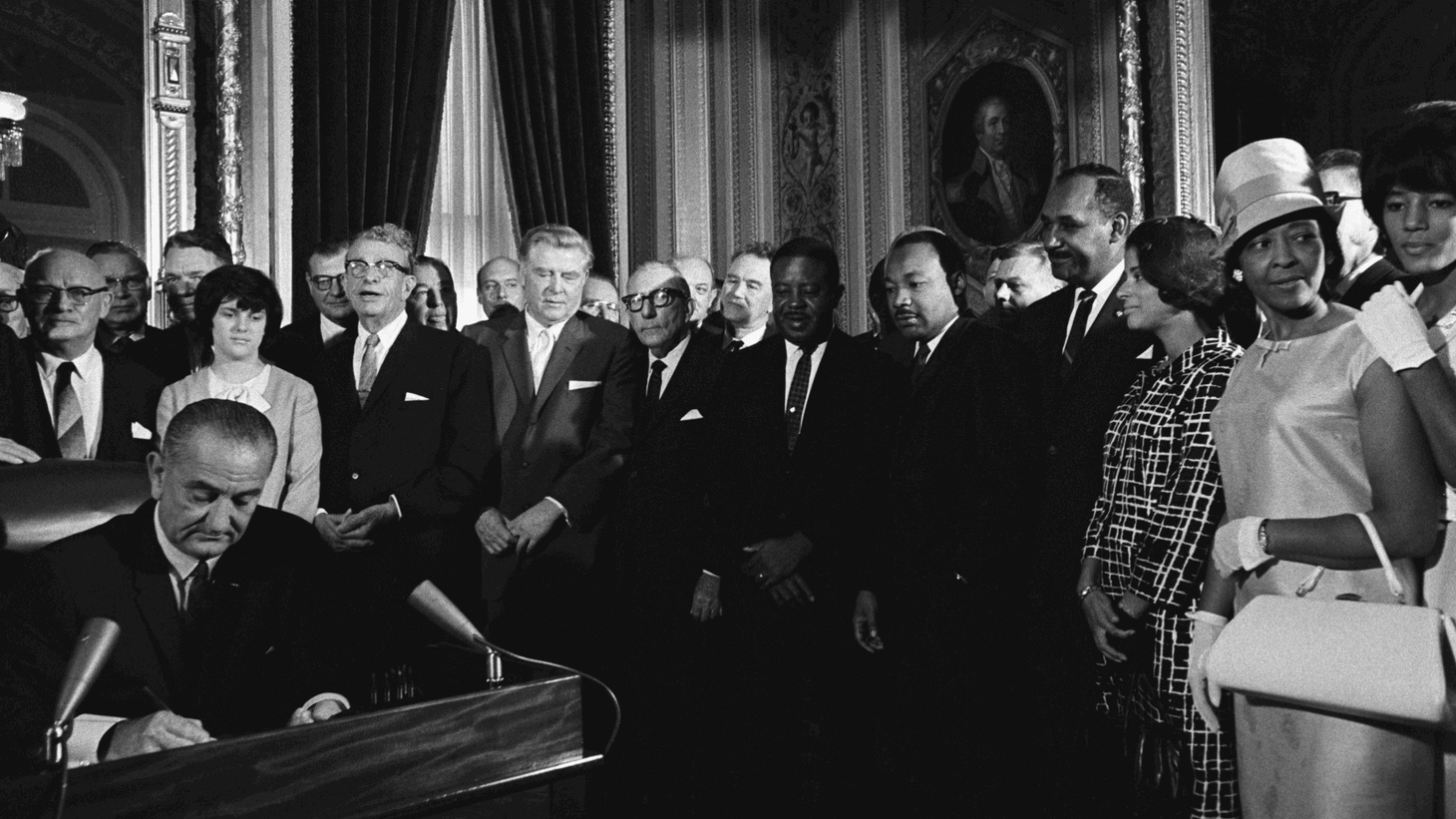 Fifty years ago today, President Lyndon Johnson signed the Voting Rights Act into law. Since then, there's been a near-constant battle over the law. Here in California, Secretary of State Alex Padilla announced that around 45,000 non-violent felons will be getting back their right to vote. And, Hollywood is a tough place for women and minorities on screen and off.