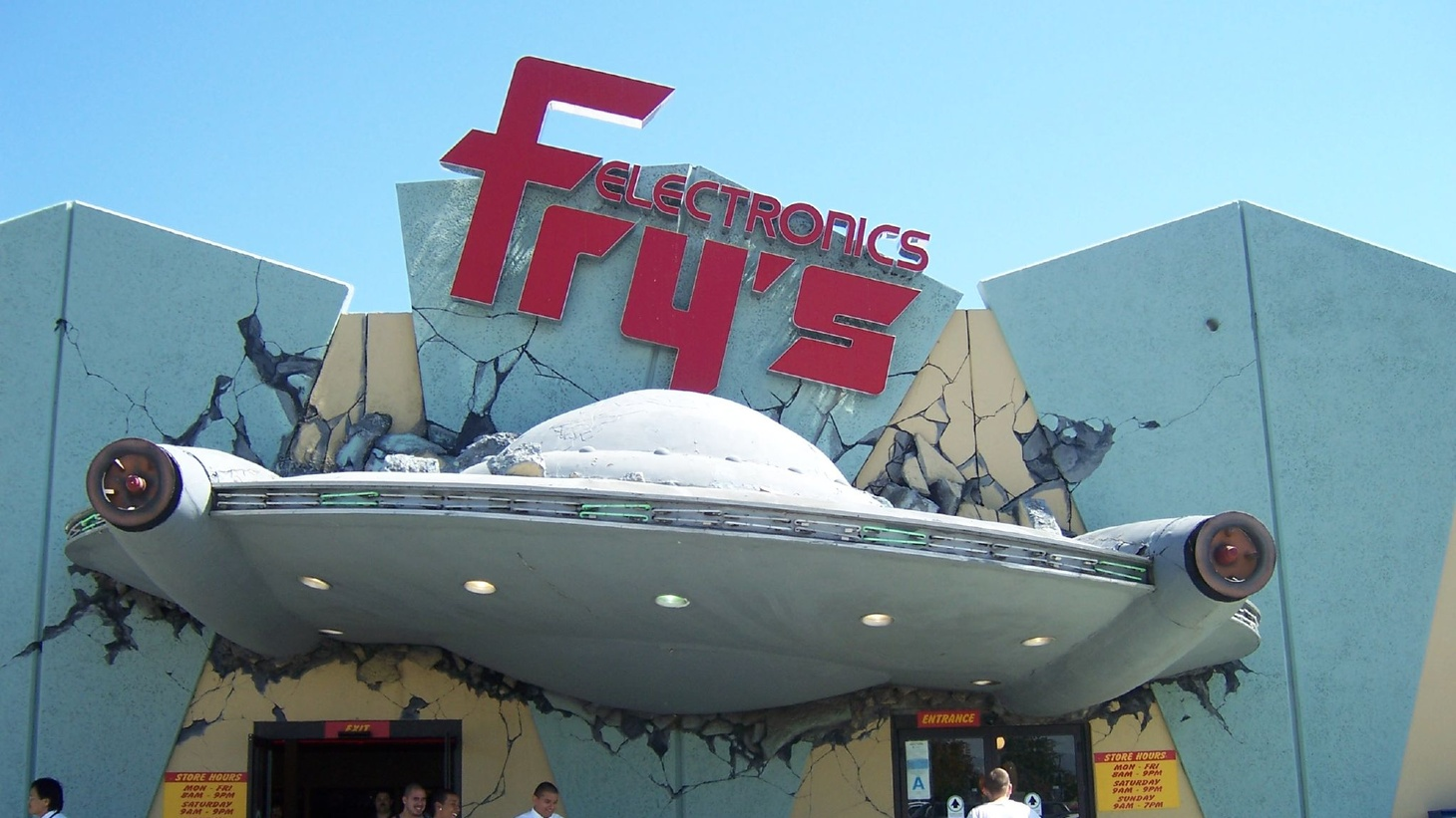 Fry's Electronics in Burbank featured a space/sci-fi theme.