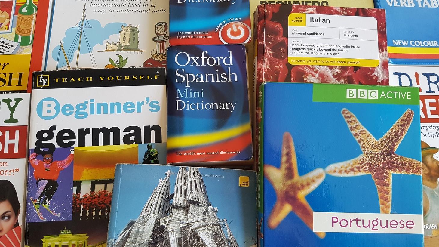 Foreign language books.