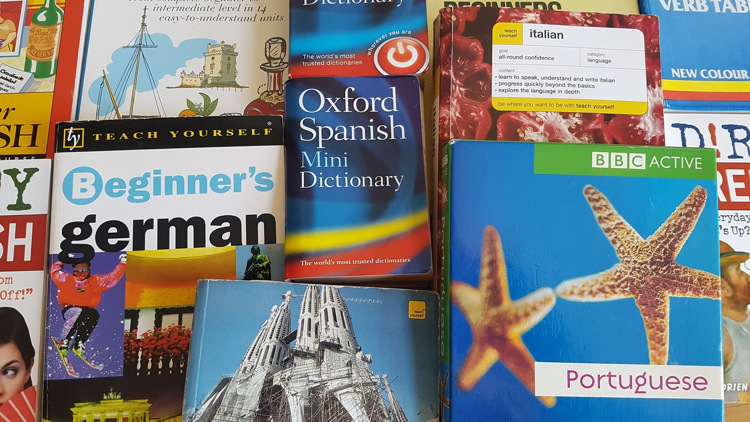 Foreign language books.