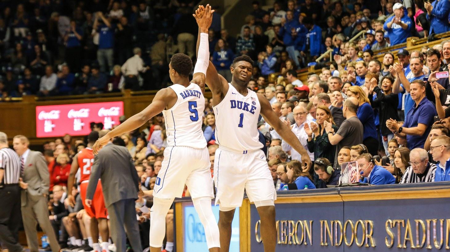 RJ Barrett and Zion Williamson, Duke Men's Basketball NCAA.