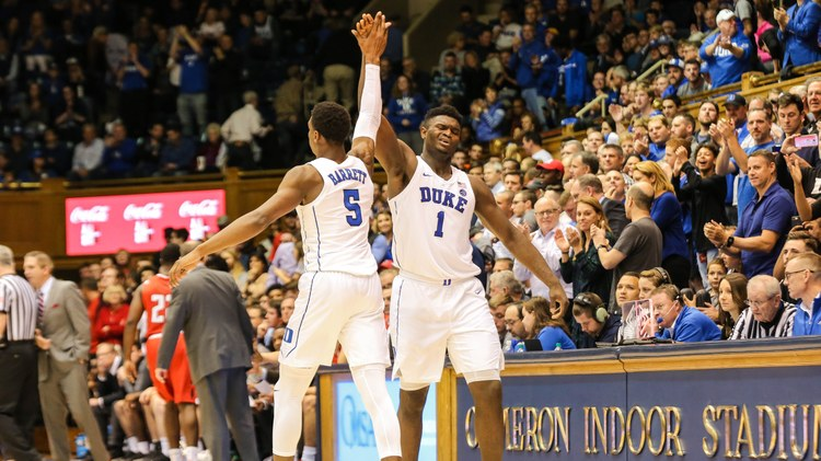 The top college basketball teams advanced to the Sweet 16 of the men's NCAA. The standout player this year is Zion Williamson from Duke University.