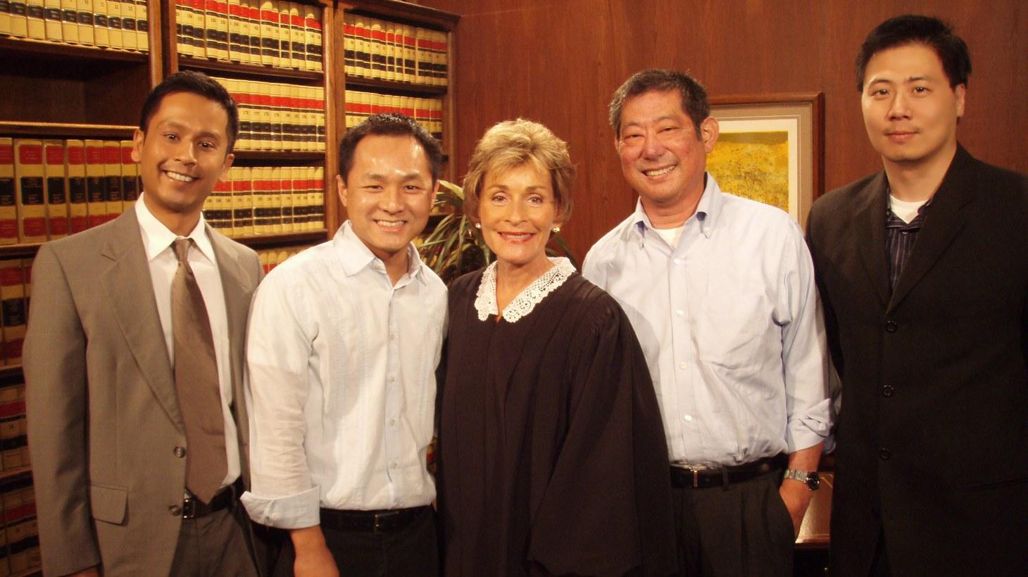Judge Judy Sheindlin with fans.