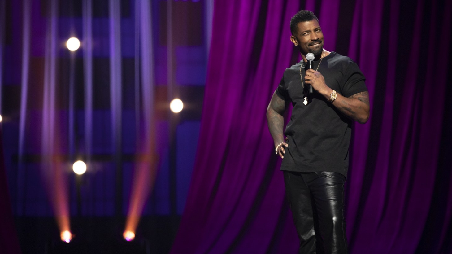 Deon Cole jokes about dining, strangers, and more on his Netflix comedy special.