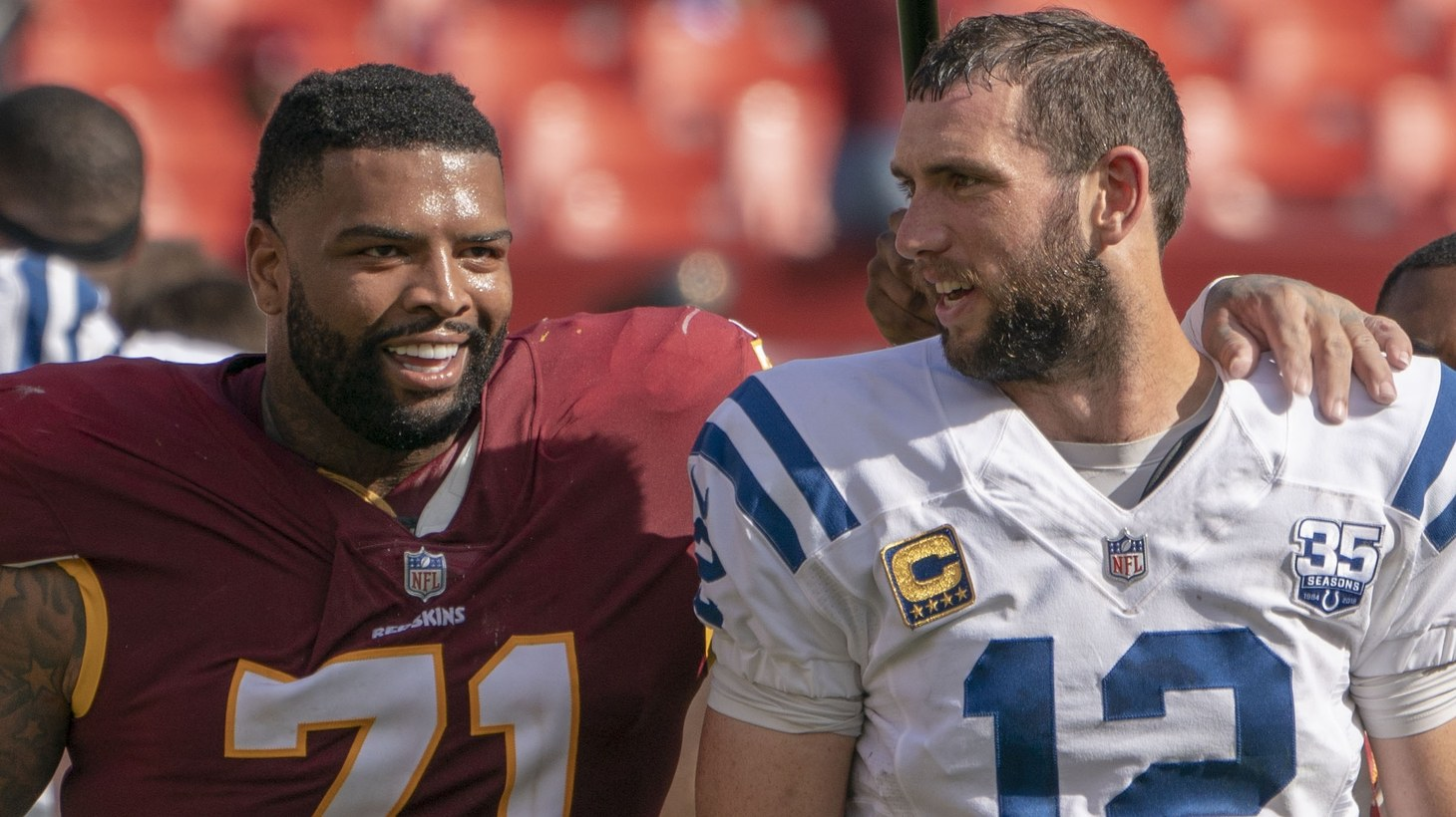 Trent Williams and Andrew Luck.