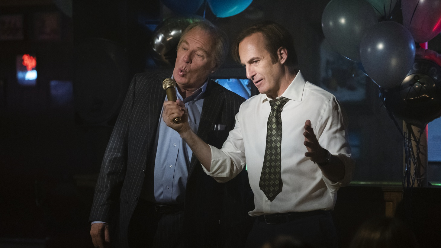 "Bob Odenkirk as Jimmy McGill and Michael McKean as Chuck McGill in ""Better Call Saul,"" Season 4, Episode 10."