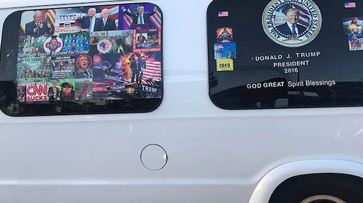 Cesar Sayoc is charged with five federal crimes for allegedly sending 13 IEDs to Democratic leaders and those who've criticized Trump. Sayoc drove a white van covered with pro-Trump stickers, and pictures of those leaders with crosshairs on them.