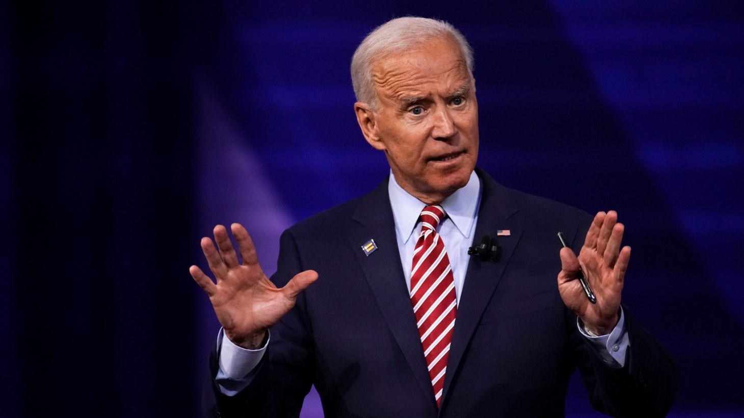 Democratic 2020 U.S. presidential candidate and former Vice President Joe Biden participates in a televised town hall on CNN dedicated to LGBTQ issues in Los Angeles, California, U.S. October 10, 2019.