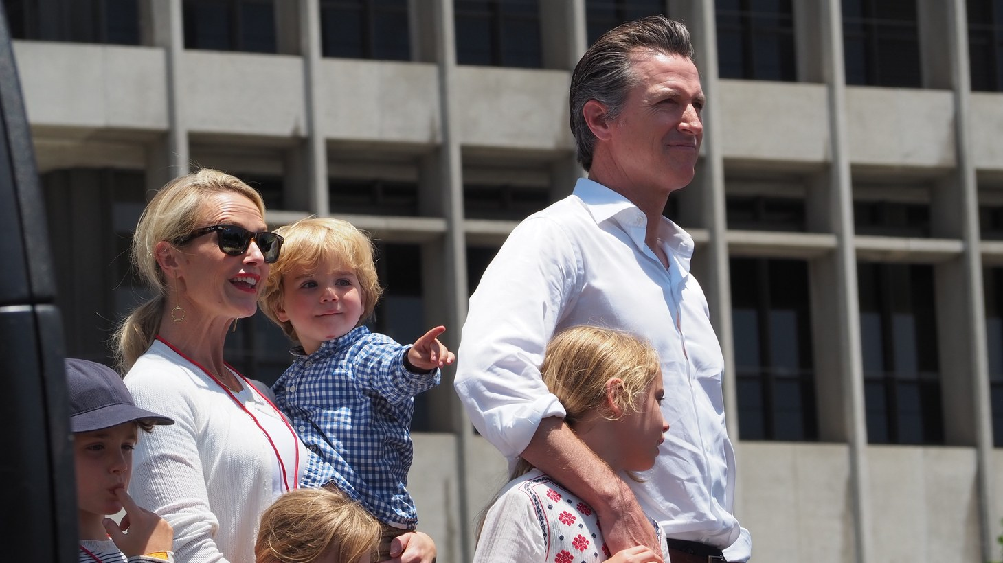 Gov. Gavin Newsom at L.A.'s Families Belong Together March 2018.