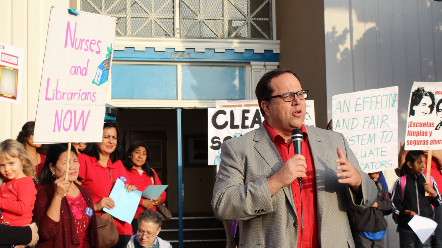 Alex Caputo-Pearl, president of United Teachers Los Angeles.
