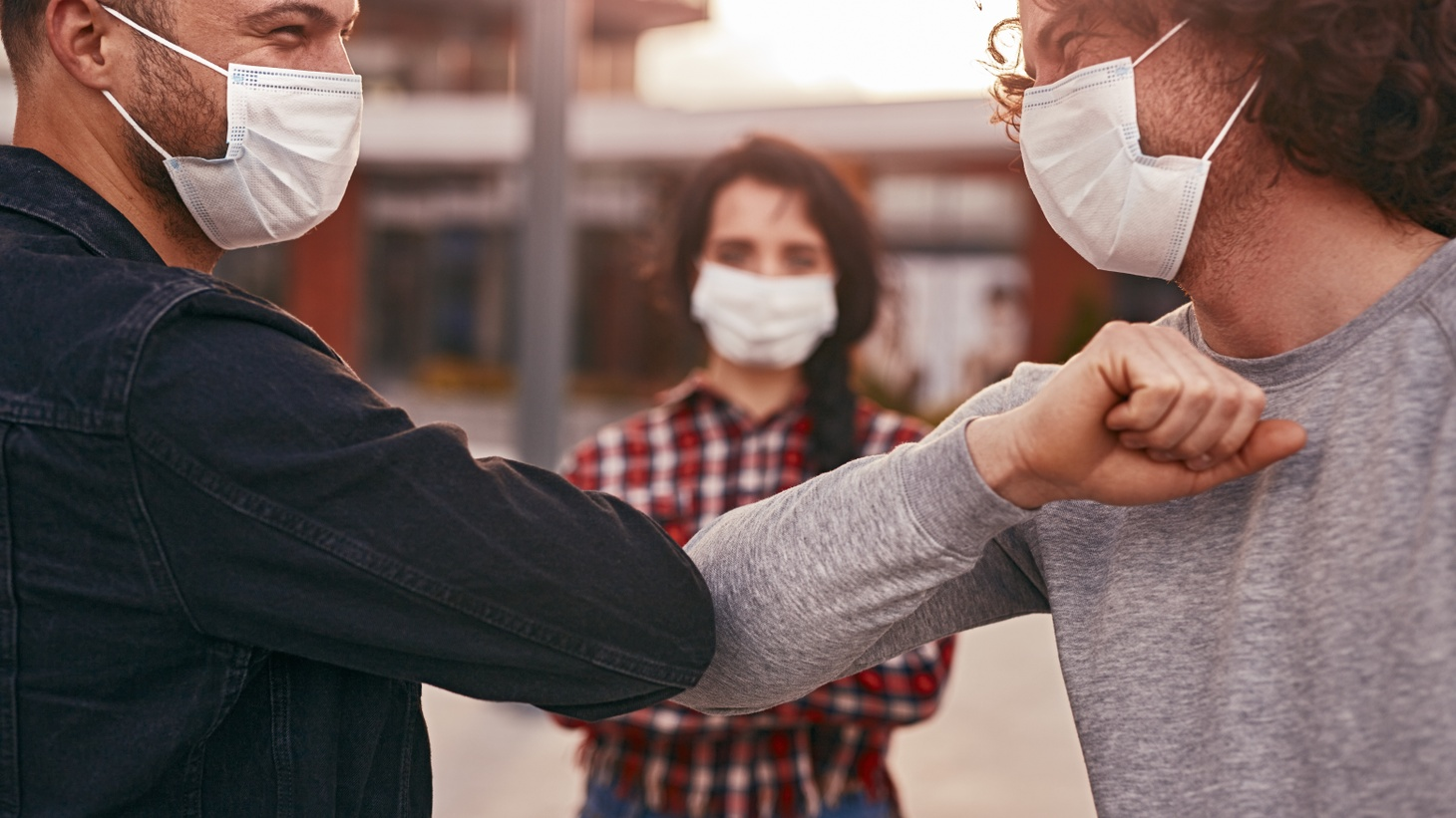 Maybe instead of handshakes or hugs, the elbow bump will become a common way to say hello even beyond the pandemic.