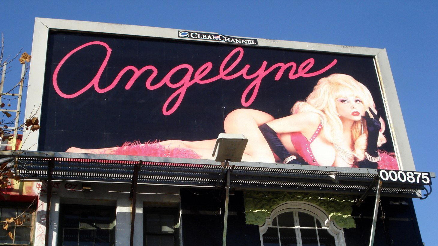 A billboard of Angelyne.