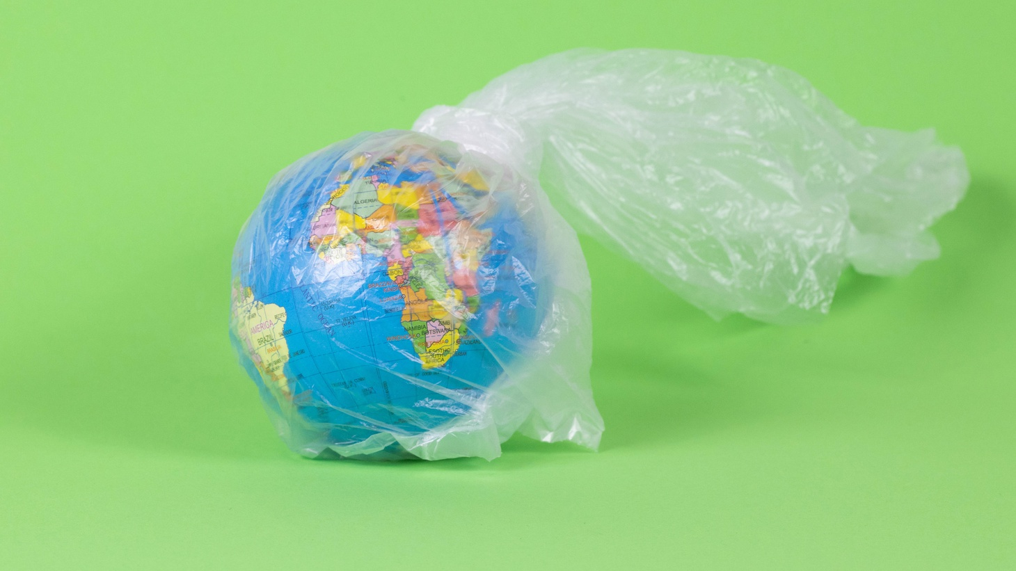 Earth in plastic bag.