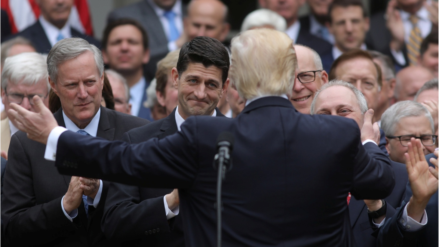 """House Speaker Paul Ryan and Republican party leadership corralled just enough votes to pass the health care bill -- 217 to 213. All the House Democrats and 20 Republicans voted against the bill. Some of California's Republican delegation had been undecided until today, but in the end, all of them voted """"yes."""" The bill allows states to scrap many of the protections provided under Obamacare."""