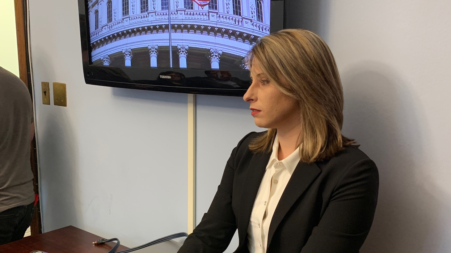 Katie Hill in her office.